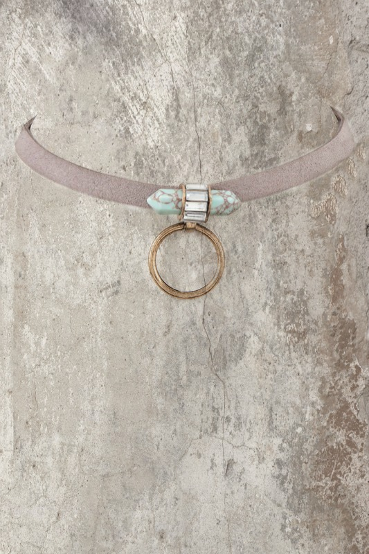 Prism Choker Necklace - Taupe