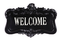 Ornate Metal Welcome Sign-welcome sign, wall plaque, housewarming gift
