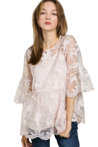 Marry Me Lace Top - Pink