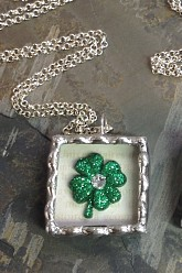 His Irish Eyes Are Smiling Soldered Pendant Necklace