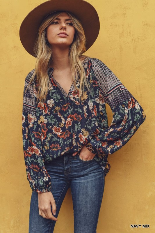Wanderlust Mix Print Blouse