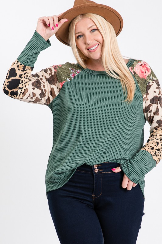 Plus Size Alyssa's Two Tone Thermal