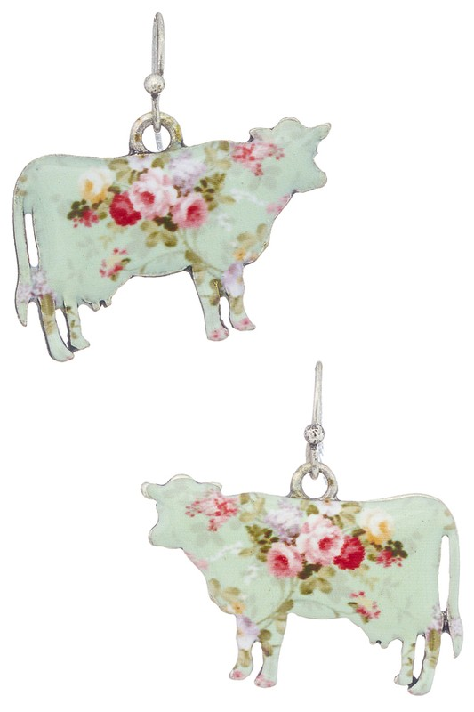 Miss Moo Earrings - Mint