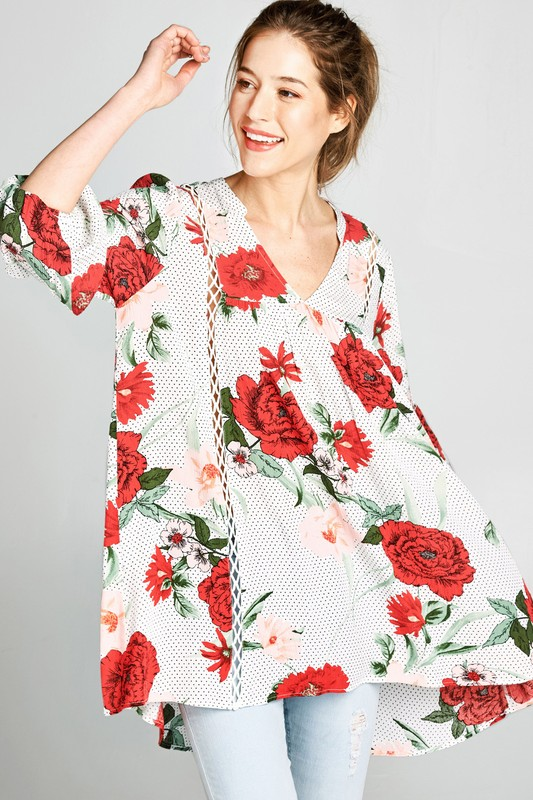 Be That Girl Floral Tunic Top