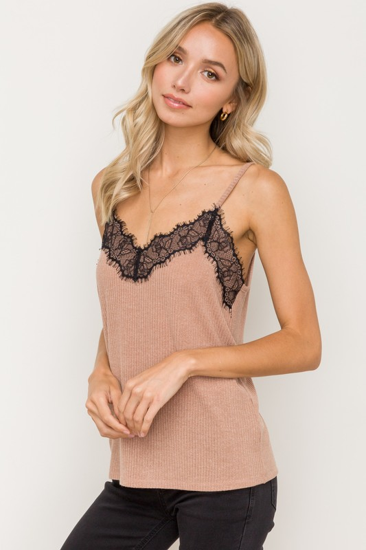 Simply Perfect Knit Camisole - Taupe