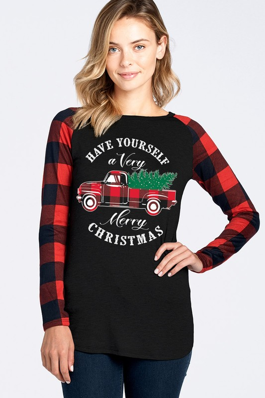 Have Yourself A Very Merry Christmas Top - Red