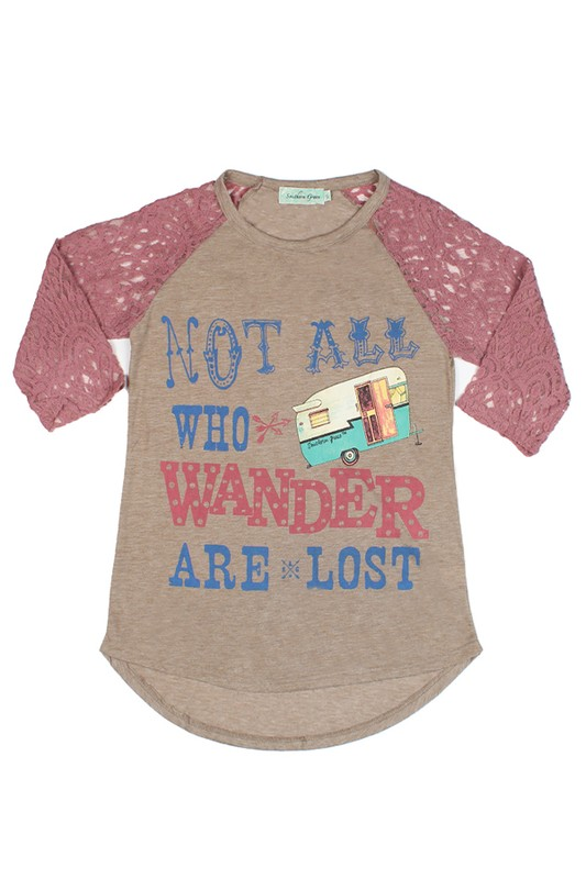 Plus Size Not All Who Wander Are Lost