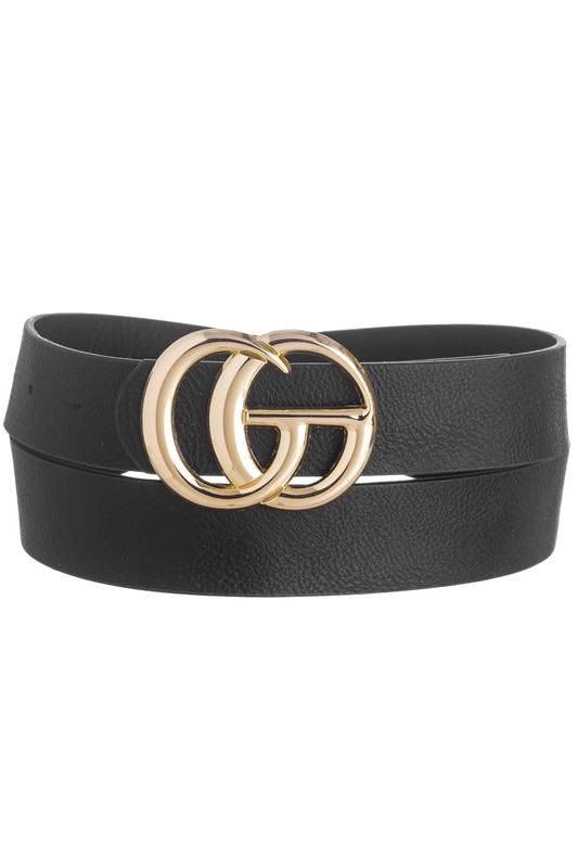 Designer Inspired GG Belt- Black