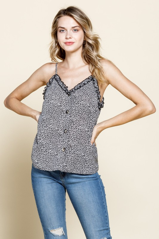 Frilly Leopard Cami