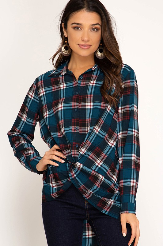 Borrowed Style Plaid Shirt