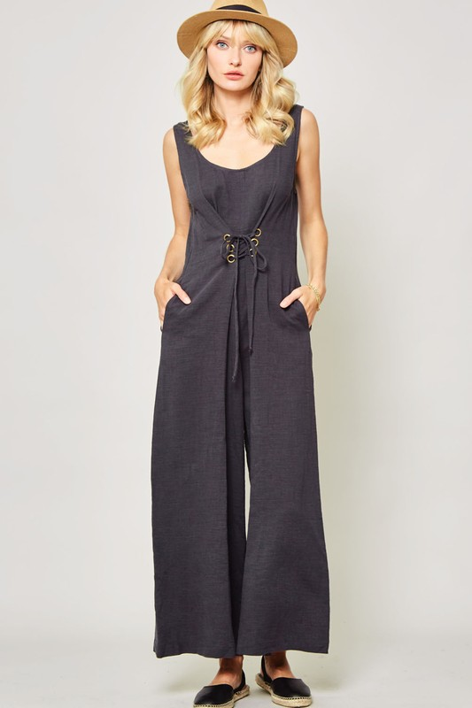 Charcoal Palazzo Jumpsuit