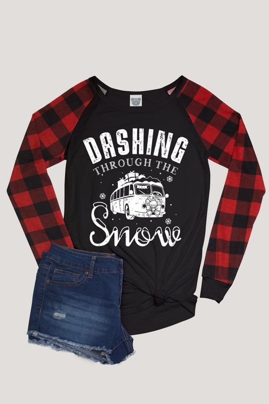 Dashing Through The Snow Holiday Top