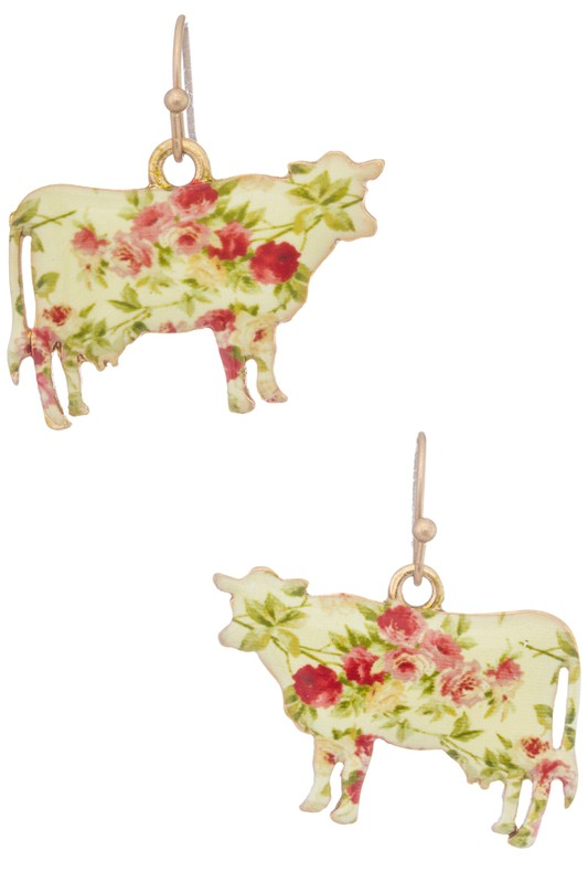 Miss Moo Earrings - Gold