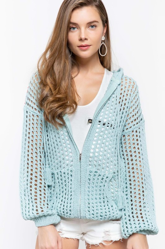A Walk In The Park Hoodie - Powder Blue