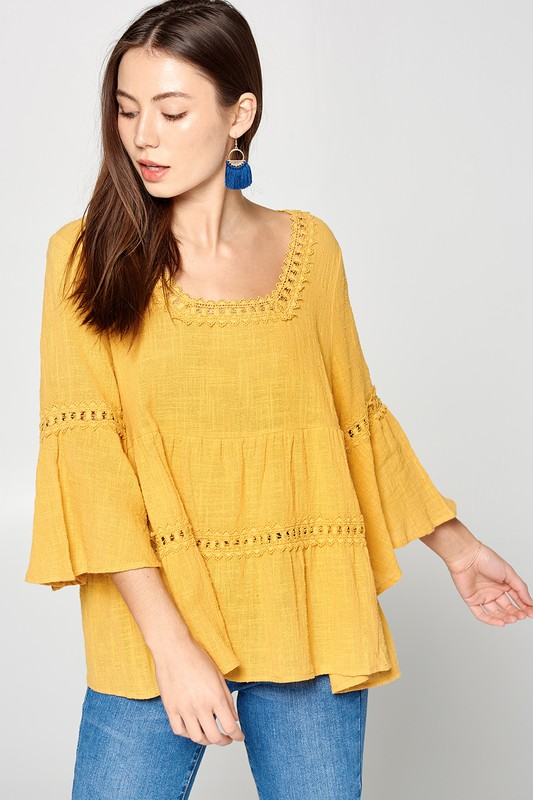 Canary Babydoll Blouse