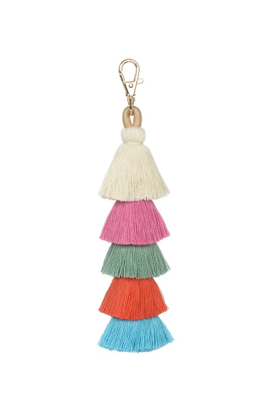 Tassel Key Chain - Pink