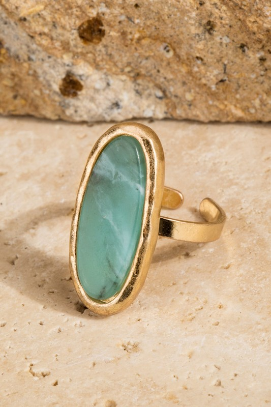 All Oval You Stone Ring - Amazonite