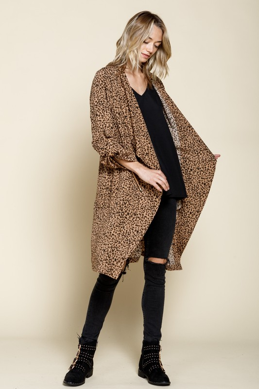 Ginger's Leopard Knee Length Jacket