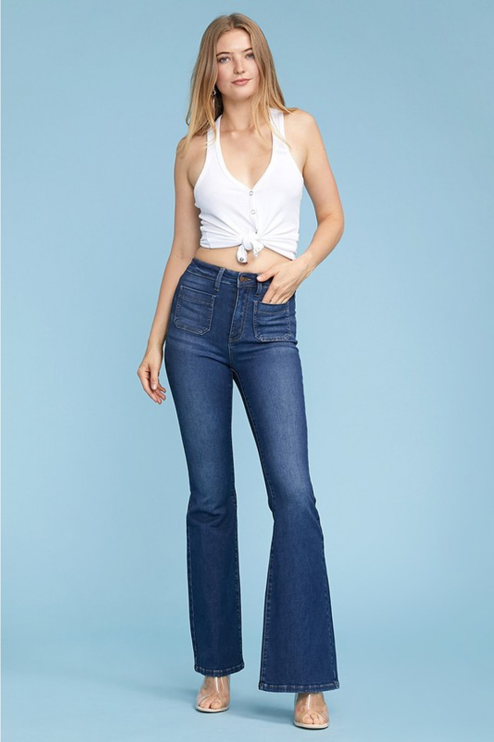 Judy Blue Patch Pocket Flares