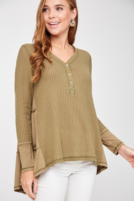 Spirit and Style Olive Knit Top
