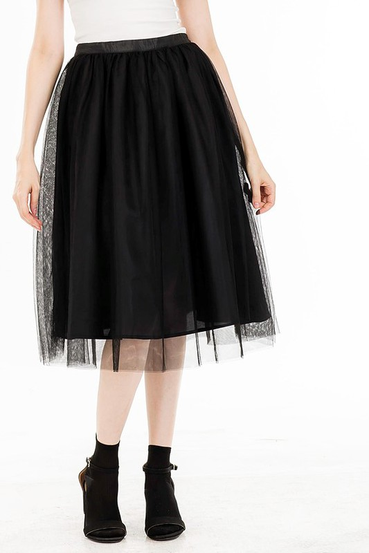 Romantic Black Tulle Skirt