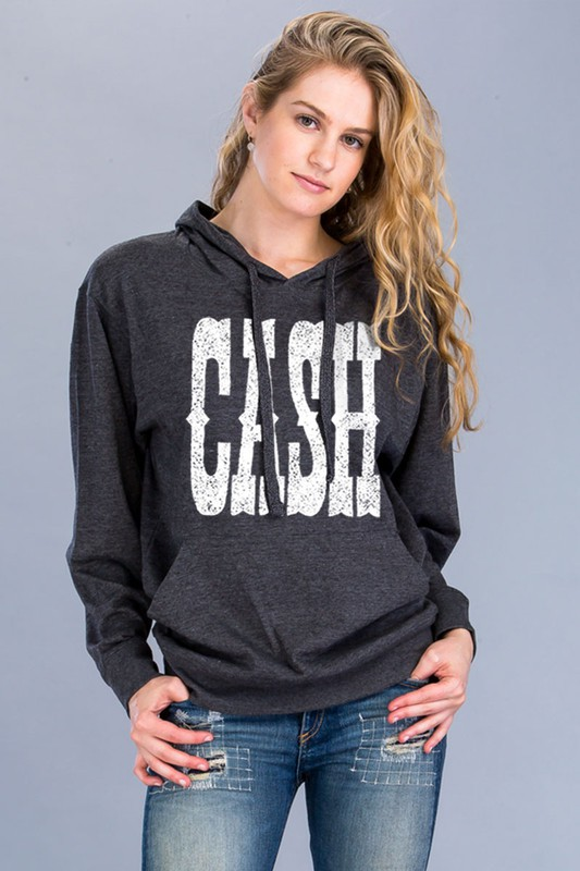 CASH, Johnny Cash Hoodie Sweatshirt