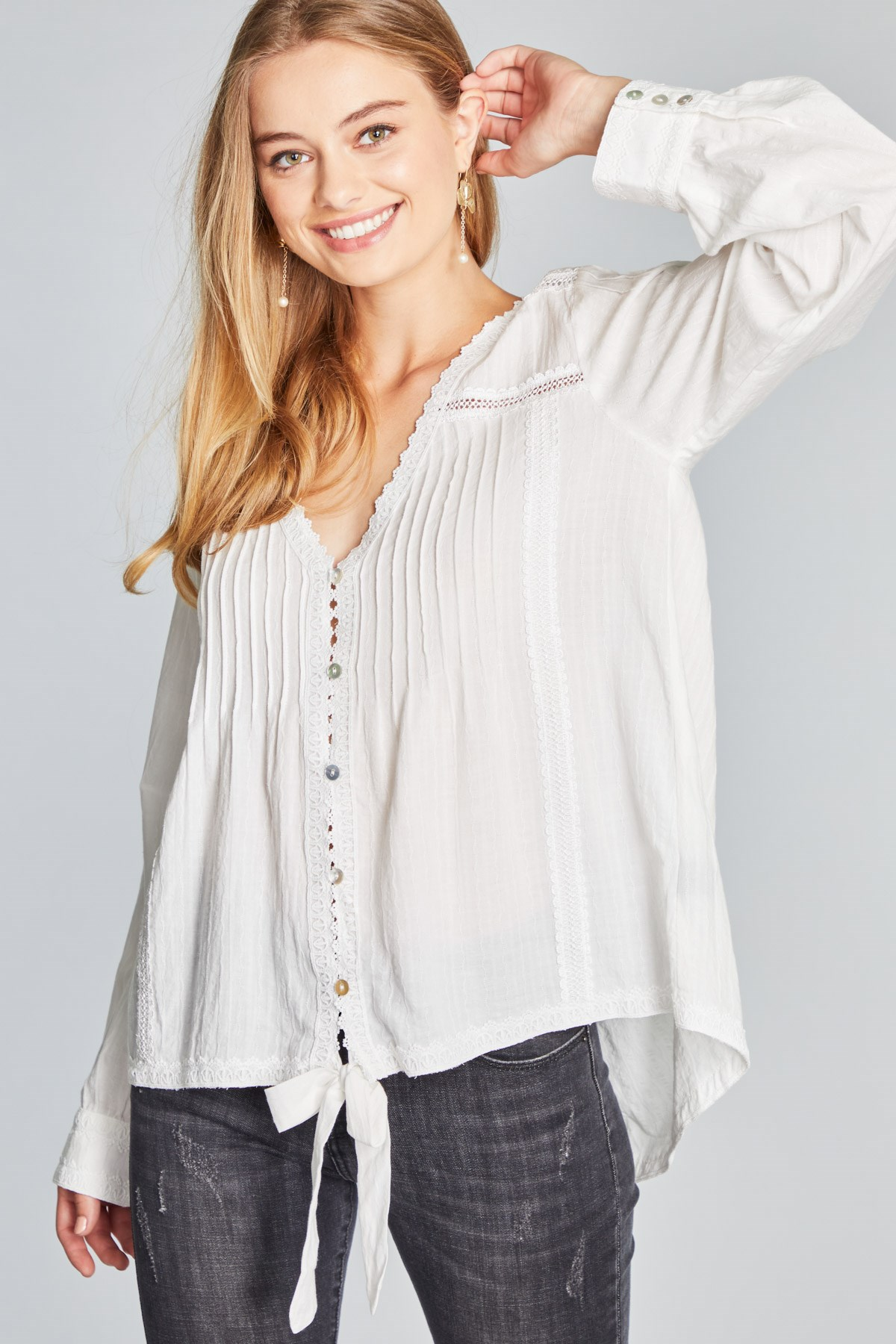 Southern Comfort White Cotton Top