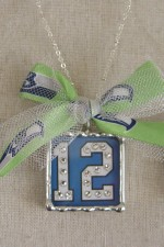 12th Man Reversible Pendant with Crystals