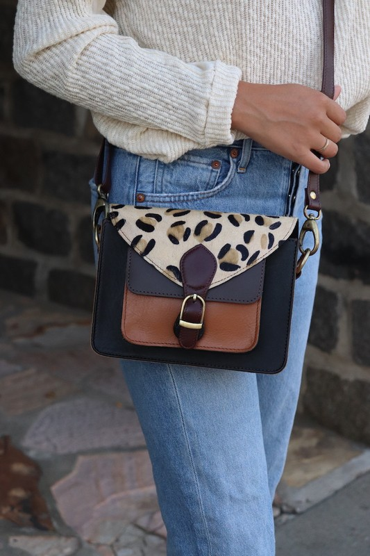 Leopard Print Crossbody Handbag by Panache