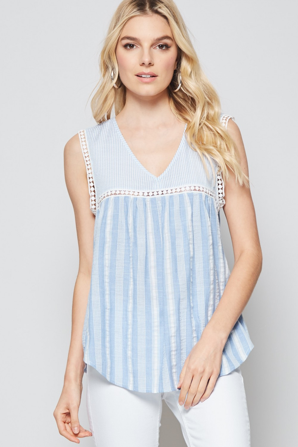 Perfectly Put Striped Babydoll Top