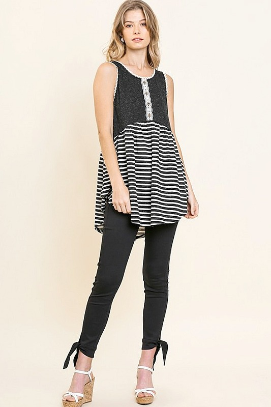 Day Trip Striped Tank Top by Umgee