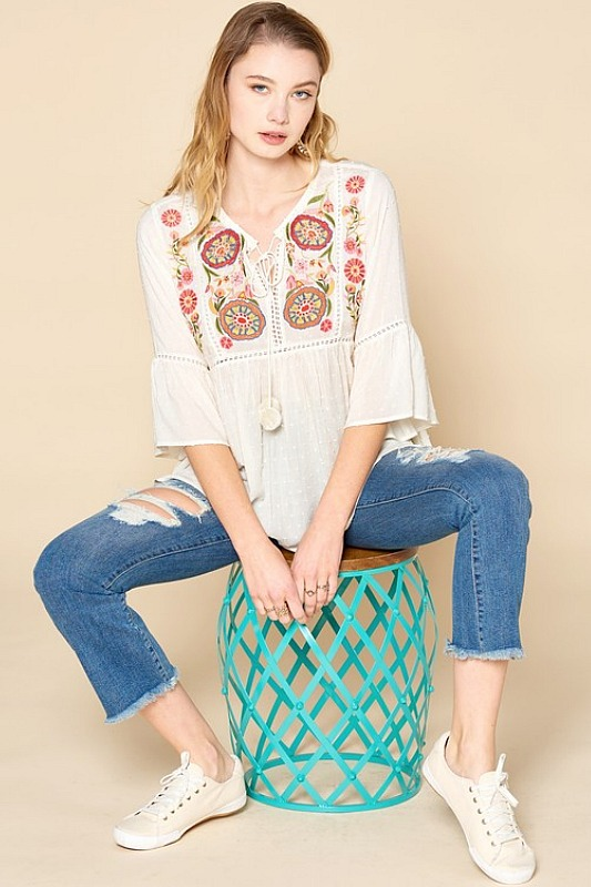 Cute and Casual Babydoll Blouse
