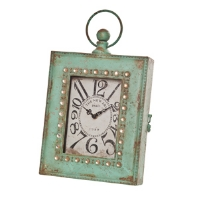 Vertical Easel Table Clock by Wilco-metal, easel clock, stunning, distressed finish, new era, paris, conversation piece