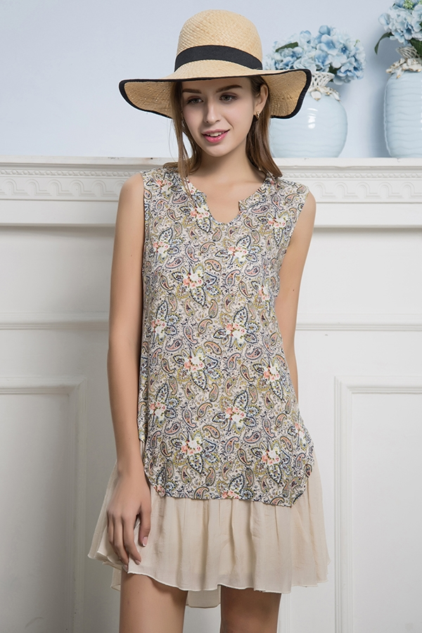 Pretty In Paisley Tunic Dress
