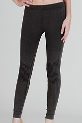 Vintage Moto Long Leggings - Charcoal