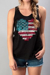 I Heart The USA Tank Top - Black
