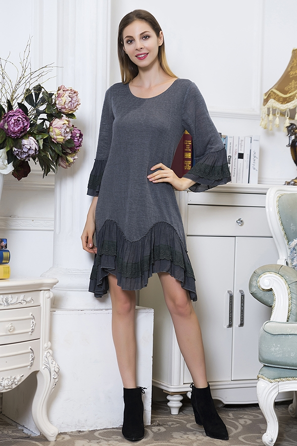 Knowingly Grey Tunic Dress