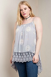 Ashley Embroidered Lace Top