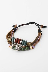 Vintage Charm Leather Bracelet - Elephant