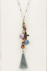 Live Simply Charm Necklace - Silver