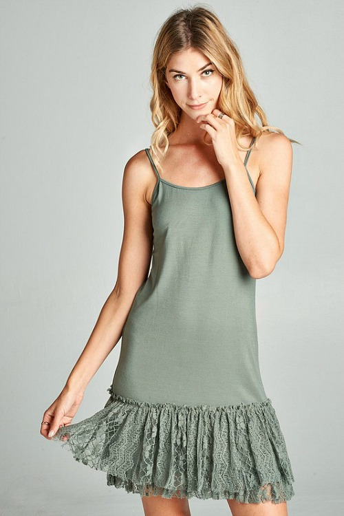 Steal The Scene Lace Extender - Olive