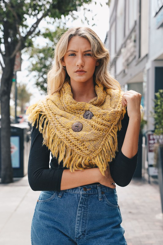 Shoulder Warmer Scarf - Lemon