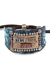 Hide Your Crazy Cuff Bracelet - Patina