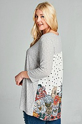 Plus Size Double Take Knit Top