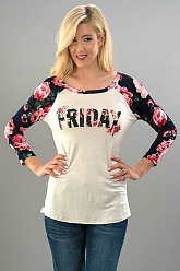 Friday Floral Raglan Top
