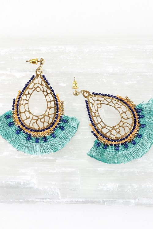 Bold and Beautiful Tassel Earrings