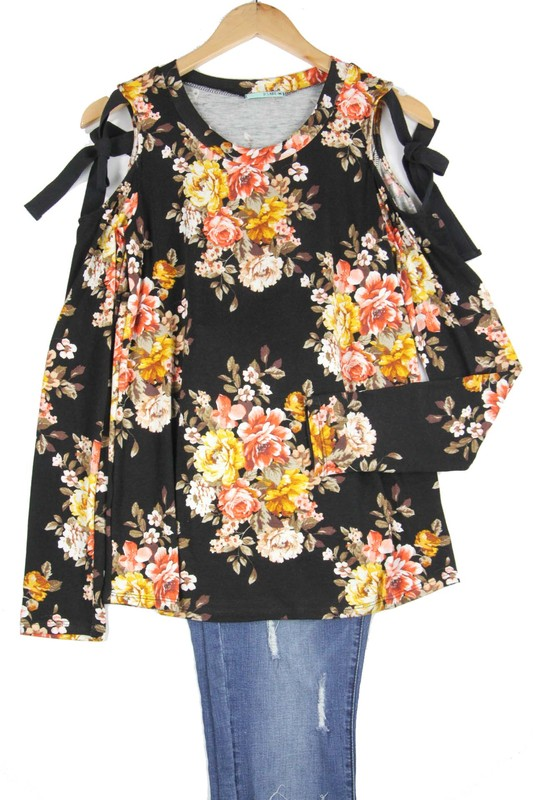 Fall Floral Bouquet Top