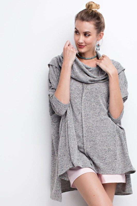 Cozy Cowlneck Sweater - Oatmeal