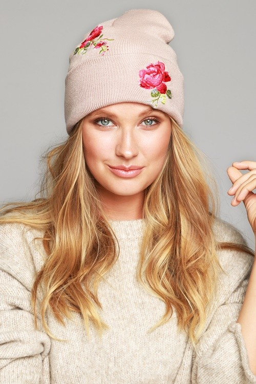 Rose Beanie - More Colors Available