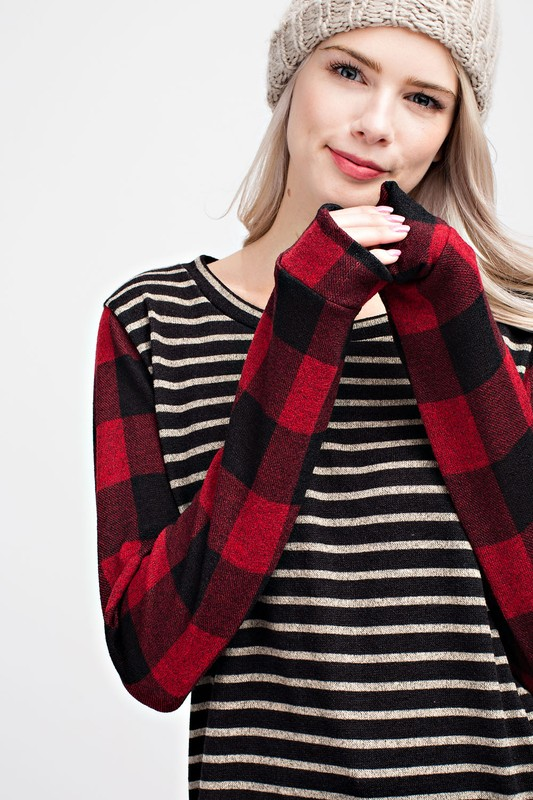 One Sweet Day Striped Top - Red